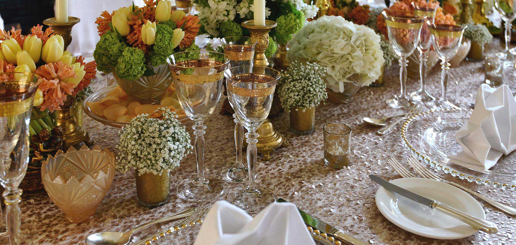 table linen and draping